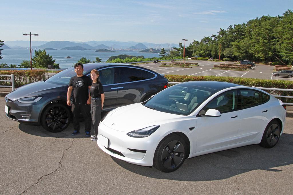 革新的EVでありながら、家族のような存在。2台のテスラと岡本さんご夫妻のカーライフ サムネイル画像`