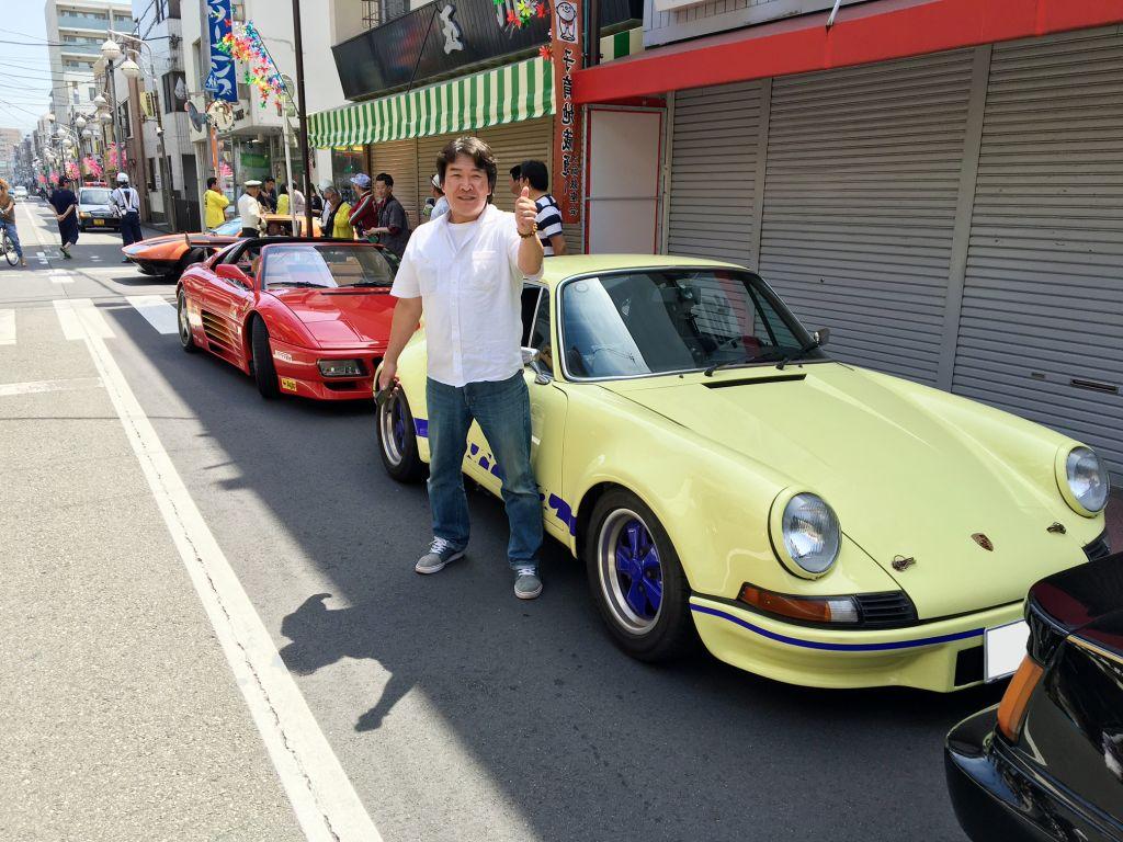 かわさき楽大師 川崎大師 クラシックカー ユダ会長