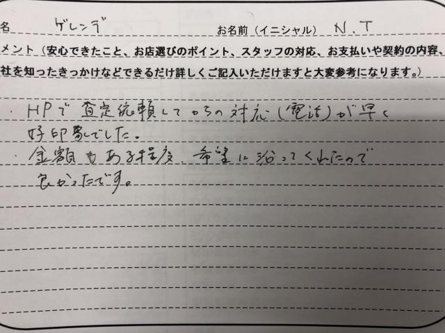 東京都 30代 男性 N.T様