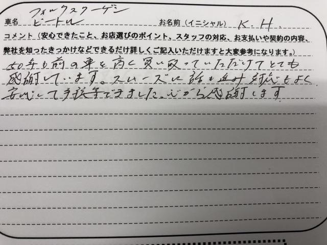 福島県 20代 男性 K.H様