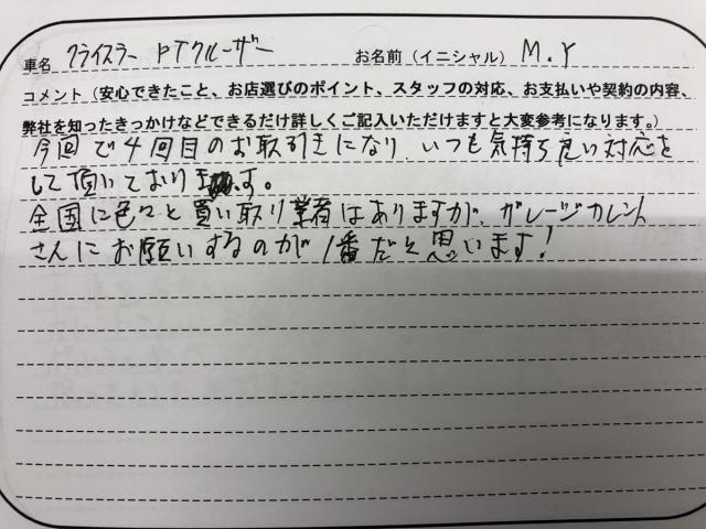 香川県 20代 男性 M.Y様