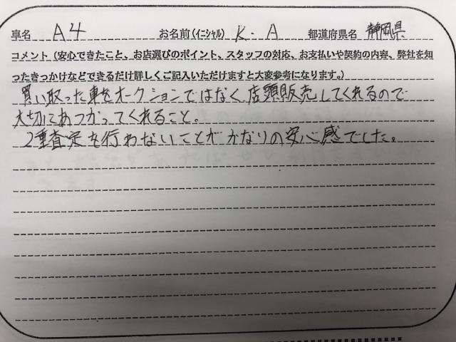 静岡県 30代 男性 K.A様