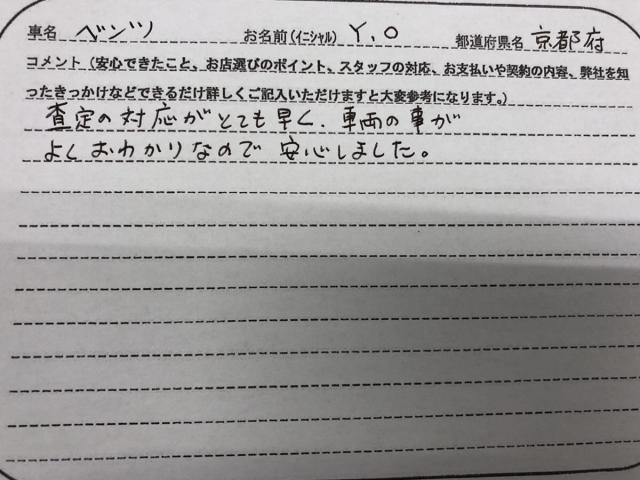京都府 50代 男性 Y.O様