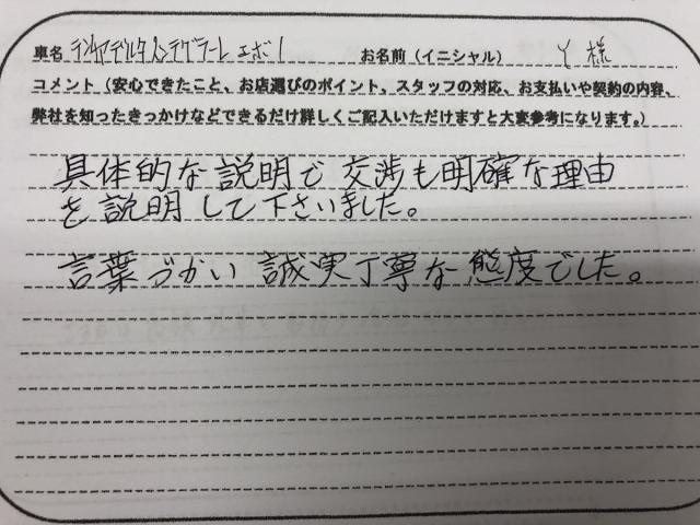愛知県 40代 男性 Y様