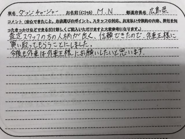 広島県 20代 男性 M.N様