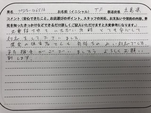 広島県 40代 男性 TF様