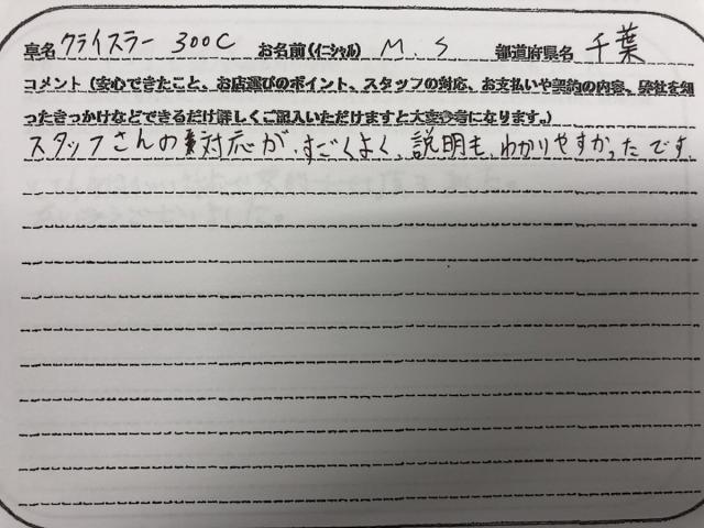 千葉県 20代 男性 M.S様