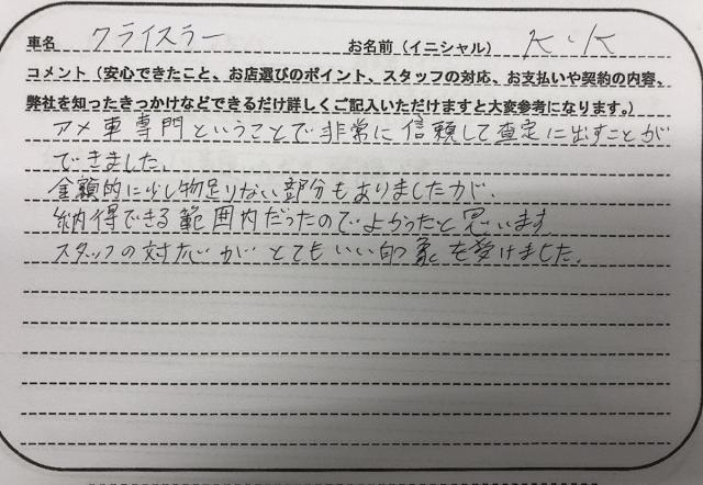 青森県 30代 男性 K.K様