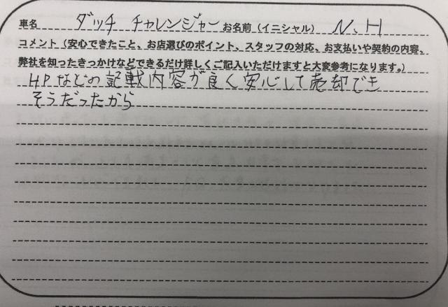 山口県 40代 男性 N.H様