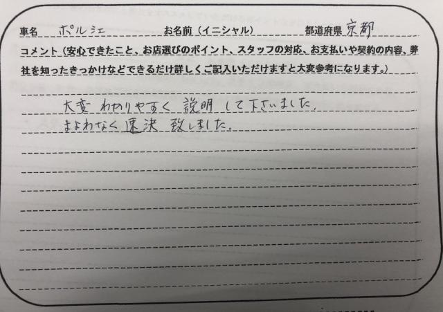 京都府 70代 男性 I様