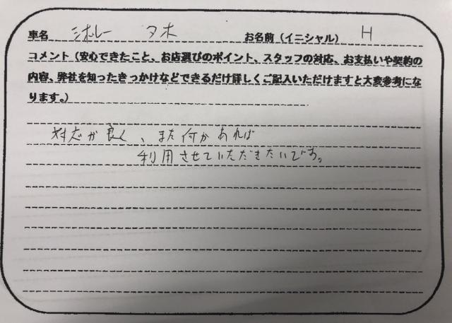 東京都 20代 男性 H様