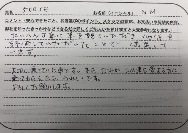愛知県 50代 女性 NM様